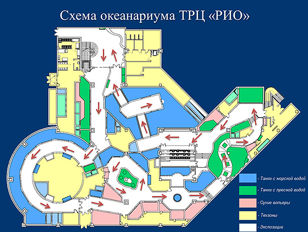 С первого этажа ТРЦ «РИО» в
