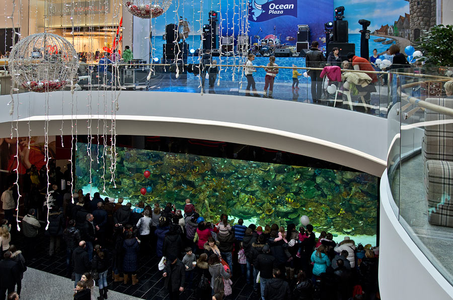 Aquarium in the Shopping Mall Ocean Plaza