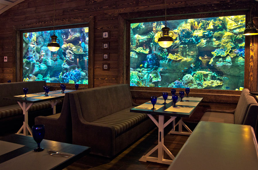 Visitors to the Marlin can enjoy the view of the aquarium during lunch or dinner