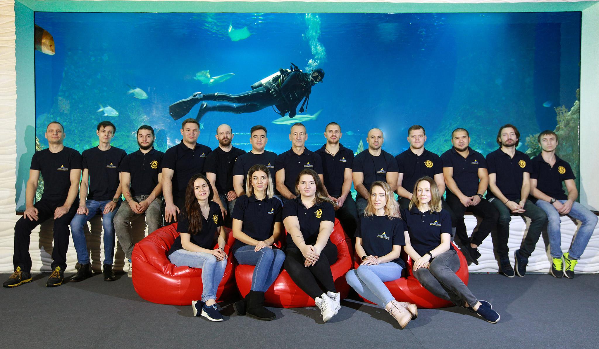 Команда Аква Лого Инжиниринг в Акватике (Когалым, январь 2021 г.)