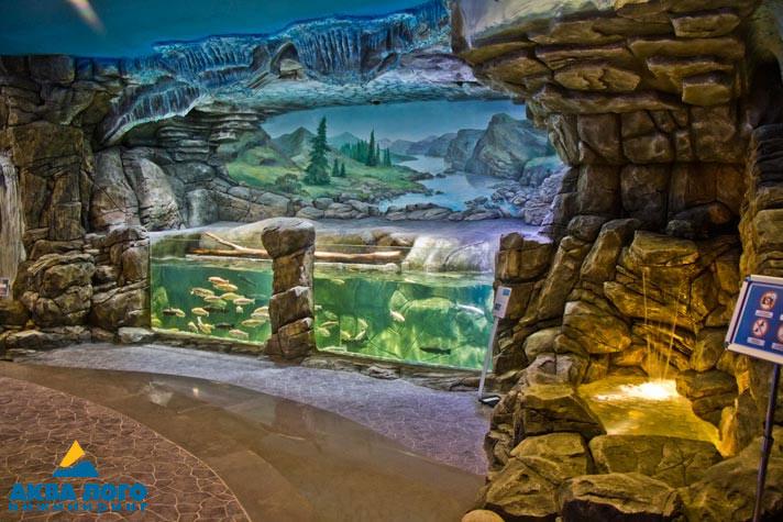 Waterfall in Voronezh Aquarium